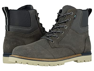 TOMS Ashland Waterproof Boot (Waterproof Forged Iron Waxy Suede/Rugged Canvas) Men