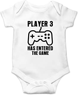 Crazy Bros Tee's Player 3 Has Entered The Game - Gamer Baby Funny Cute Novelty Infant One-Piece Baby Bodysuit