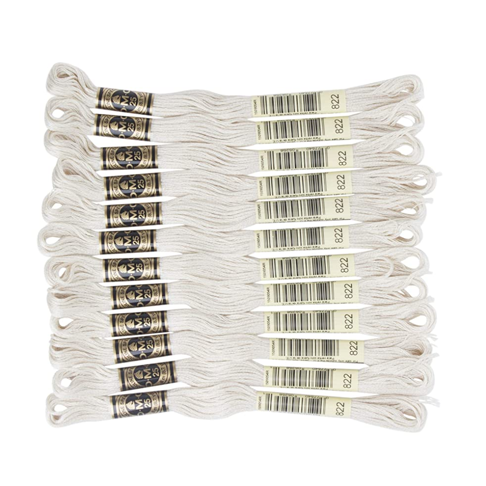 DMC 6-Strand Embroidery Cotton Floss, Light Beige Grey