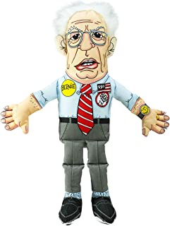 FUZZU Political Parody Dog Chew Toys with Squeakers (X-Small to Medium Dogs), Bernie Sanders or Donald Trump - Fun & Entertaining, Durable, Hand Illustrated Design & Premium Quality