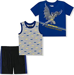 Warner Bros Boy's 3 Pack Short Sleeve Shirt, Undershirt...