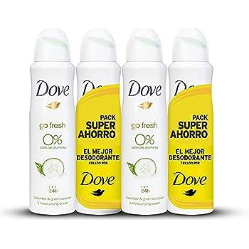 Dove Desodorante 0% Pepino Ahorro - 2 Paquetes de 2 x 150 ml ...