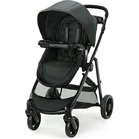Graco Modes Element Stroller | Baby Stroller with Reversible Seat, Extra Storage, Child Tray, Gotham