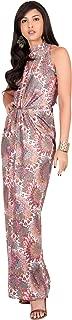 Womens Long Sleeveless Sexy Summer Boho Bohemian Sundress Maxi Dress