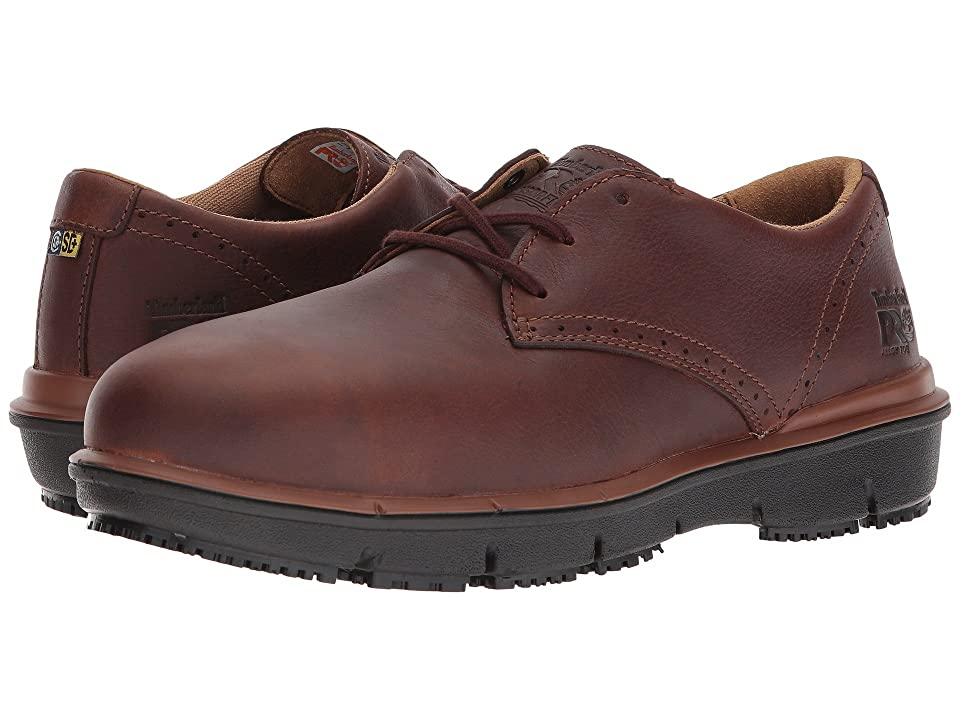 Timberland PRO Boldon Oxford Alloy Safety Toe SD (Brown Full Grain Leather) Men