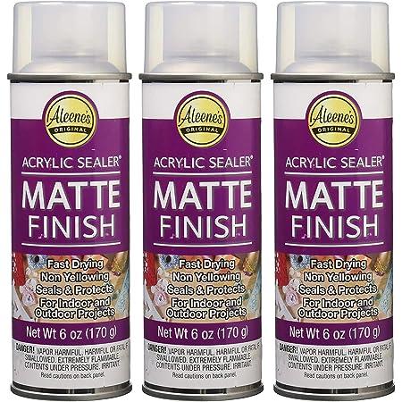 Aleene's Spray 6 oz. 3 Pack Acrylic Sealer, Clear-Matte 18 Ounce