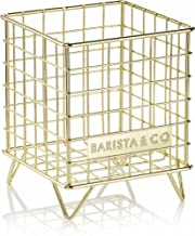 Barista & Co Pod Cage Coffee Capsule Holder, Electric Gold