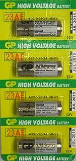 4 GP 23AE 12V Alkaline Batteries