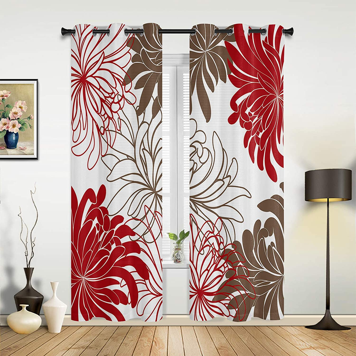 Beauty Decor Max 71% OFF Window Sheer Curtains Minim Living Japan's largest assortment Room Bedroom for