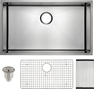 dark stainless steel sink