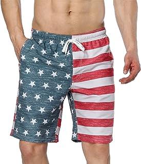 ATTRACO Mens Swim Trunks Summer Beach Shorts Board Shorts Pockets 21 Boardshorts