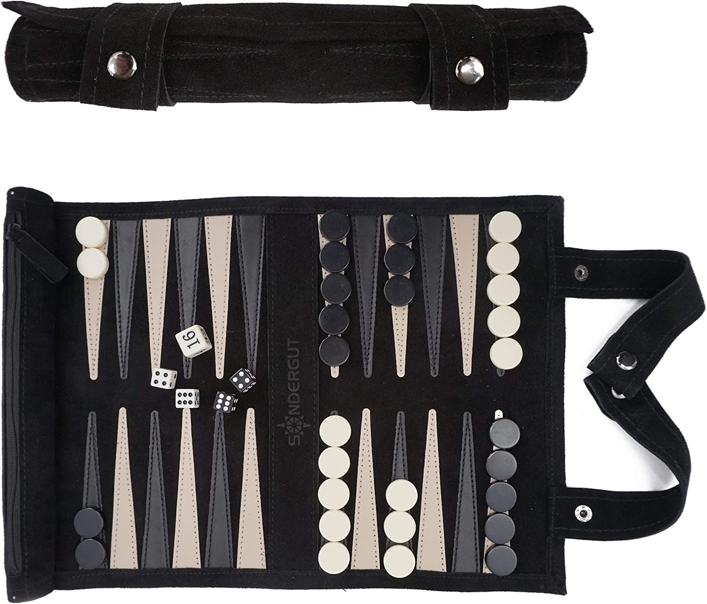 Sondergut- Backgammon - Genuine Back Travel Leather Our shop Max 89% OFF most popular