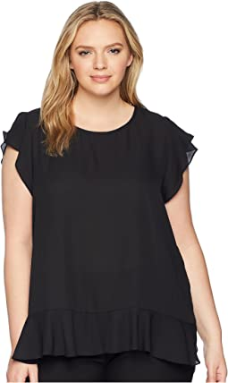 Plus Size Maia Ruffle Sleeve Top