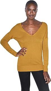 American Apparel Women's Basic Knit Long Sleeve V Sweater