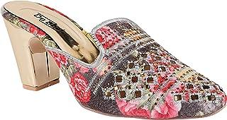 Do Bhai Women Ethnic/Party Slip On Heels Sandal