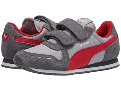 Puma Kids Cabana Racer NL V (Little Kid) (High-Rise/Castlerock/High Risk Red) Boys Shoes