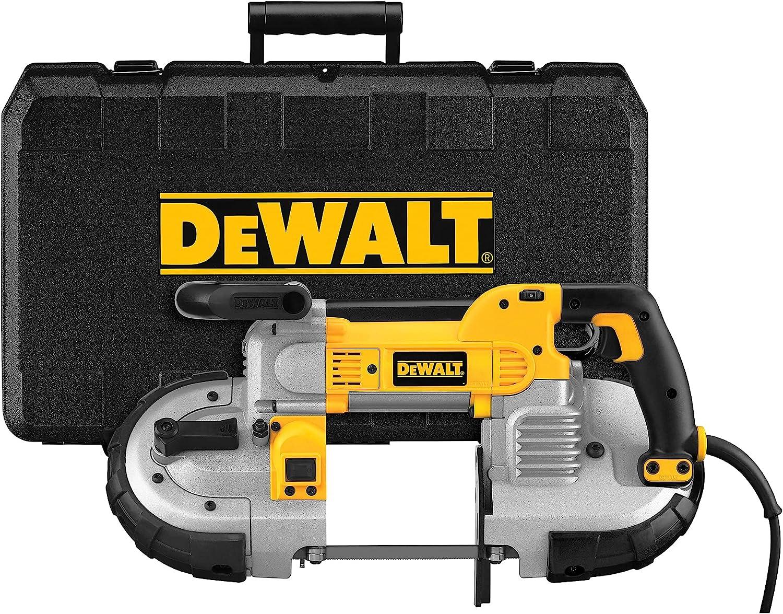 DEWALT Portable Band Saw, Deep Cut, 10 Amp, 5-Inch, Corded (DWM120K), Yellow