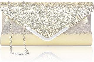 Rancco Women Clutch Handbag Elegant Sequins Evening Clutch Shoulder Bag Purse