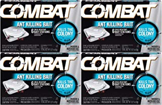 Combat 023400459018 Ant Killing Bait Stations, 6 Count (Pack of 4)