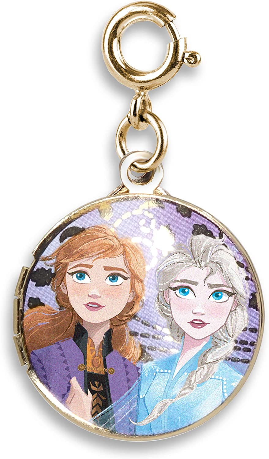 CHARM IT! Charms for Bracelets and Necklaces - Gold Elsa and Anna Locket Charm   Frozen II