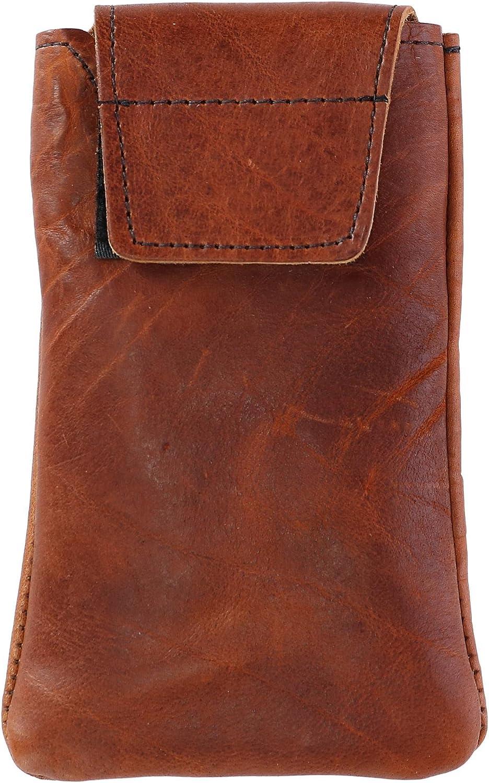 Boston Leather Textured Bison Leather Eyeglass Case