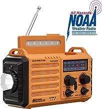 Noaa Weather Alert Radio,Solar/Hand Crank Emergency Radio,AM/FM/WB Shortwave Radio Portable,Outdoor Survival Gear,5 Way Power,2000mAh Rechargeable Battery,Phone USB Charger,LED Flashlight/Reading Lamp