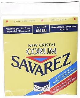 500CRJ Corum سلاسل غيتار كلاسيكية من Savarez 500CRJ Corum ، لون أحمر / أزرق