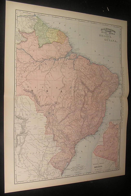 Brazil Amazon Rainforest Guiana South Safety and trust antique Miami Mall 1892 detai America