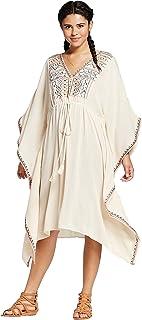 فستان هولوغرام برقبة في مطرزة للنساء