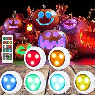 Litake Wireless RGB LED Puck Lights, Red,Blue,Green,White 1.00W, 1.50V