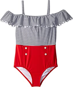 Nautical One-Piece Swimsuit (Toddler/Little Kids/Big Kids)
