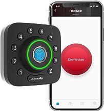 ULTRALOQ Smart Lock U-Bolt Pro, 6-in-1 Keyless Entry Door Lock with Bluetooth, Biometric Fingerprint and Keypad, Smart Doo...