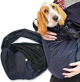 犬猫の服 full of vigor_ツイルカラーデニムフタ付き抱っこだワン_5/ネイビー_BM_中型犬用
