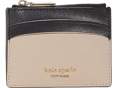 Kate Spade New York Spencer Coin Card Case (Warm Beige/Black) Handbags