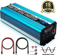 SUDOKEJI 1500W Pure Sine Wave Power Inverter Peak Power 3000W 12V DC to 110V 120V AC with LED Display 3 AC Outlets & USB Port for RV Truck Boat