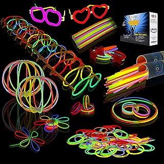 """JOYIN Glow Sticks Bulk 200 8"""" Glowsticks (Total 456 PCs 7 Colors); Bracelets Glow.."""