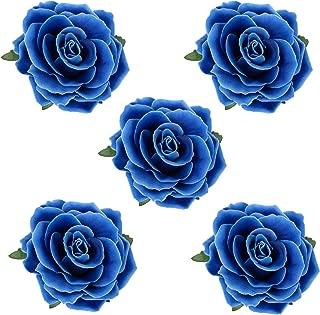 HOPEANT 5 Pcs Big Rose Flower Hair Clips Brooch Pins Accessories for Women Girl Bridal BXH35-5