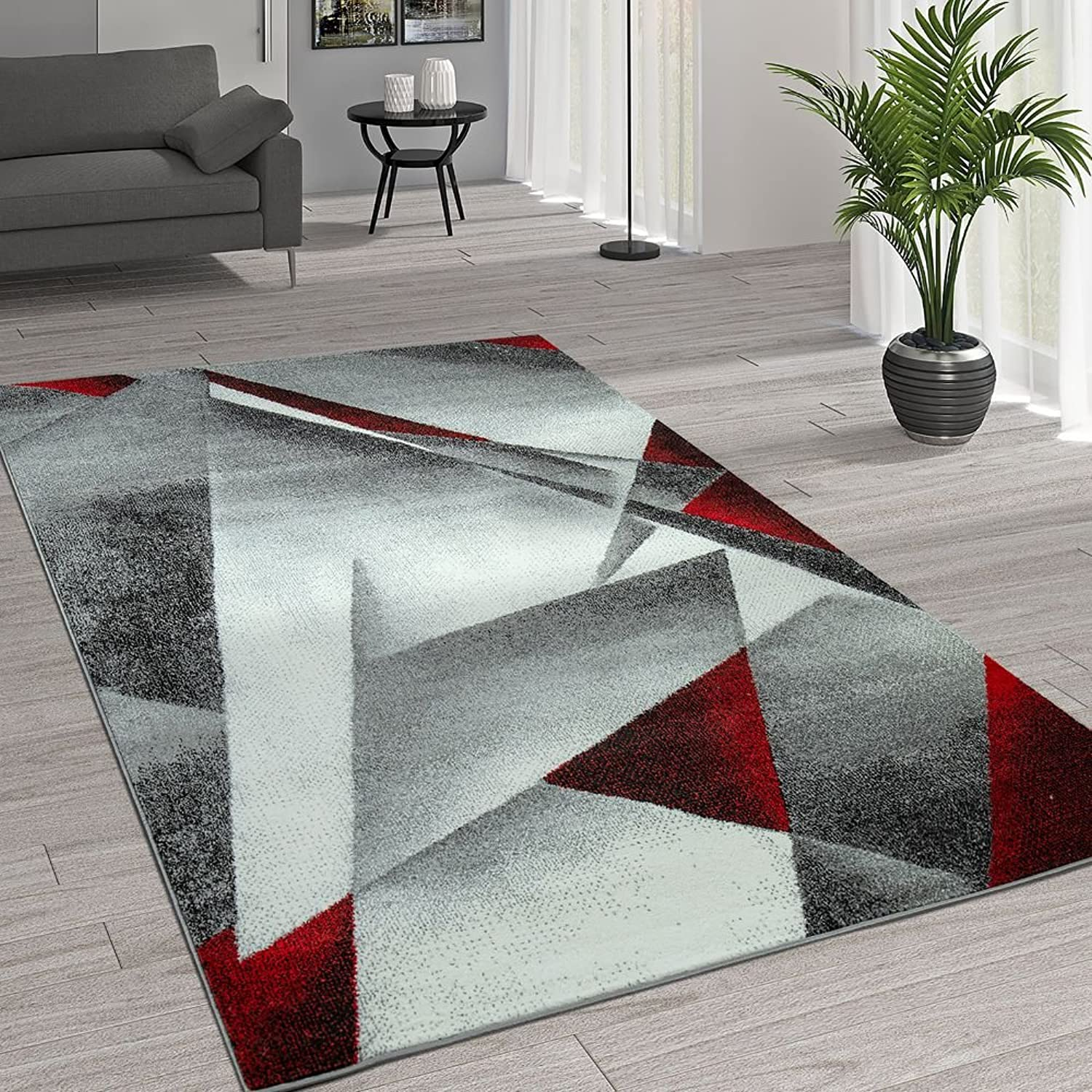 Paco Home Geometrische Cm 240x320 Grsse Rot Grau Muster