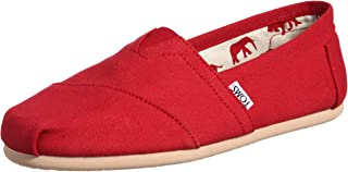 TOMS Canvas Mens Classics, Mens Shoes, Red (Red Canvas)