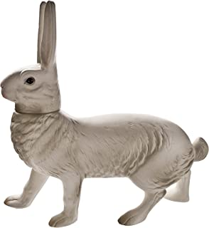 Large German paper-mache Easter rabbit candy container, walking, white