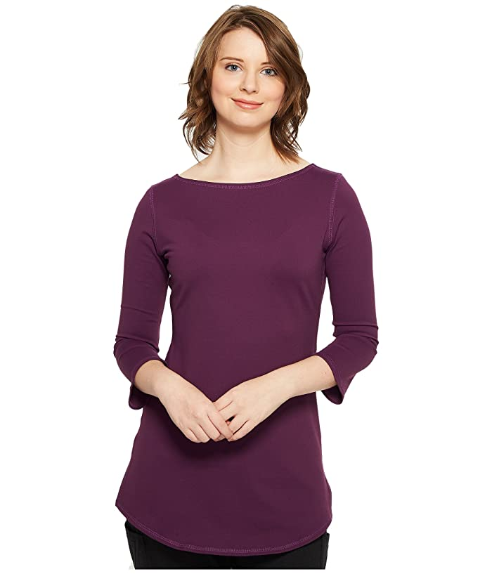 Independence Day Clothing Co Reversible Boat Neck Tunic (Eggplant) Women's Blouse