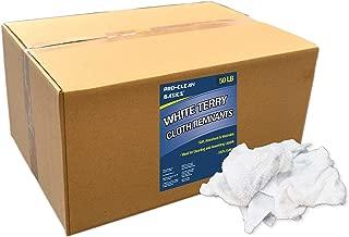 Pro-Clean Basics White Terry Cloth Rags: 50 lb. Box