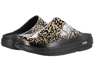 OOFOS OOCloog Limited (Black/Leopard) Women