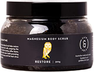 Caim & Able Magnesium Body Scrub 300g RESTORE - Coffee & Clementine - Magnesium Sulphate Virgin Coffee Daintree Rainforest...
