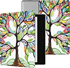 Ayotu Colorful Case for All-New Kindle Oasis (10th Gen, 2019 Release & 9th Gen, 2017), Premium PU Leather Cover with Auto Wake/Sleep, Strong Adsorption for 7��Kindle Oasis, Lucky Tree