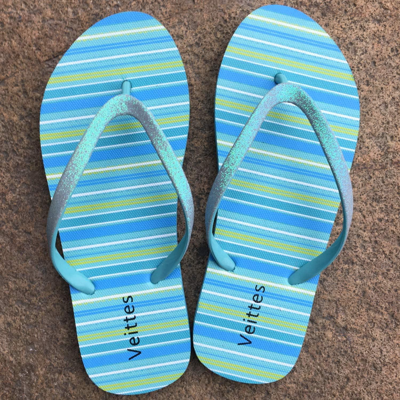 Little//Big Girls Slip On Beach Thong Sandals with Mermaid Unicorn Pineapple Printed for Younger Older Children. Veittes Kids Girl Flip Flops