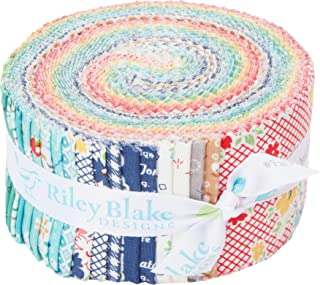 Lori Holt Farm Girl Vintage Rolie Polie 40 2.5-inch Strips Jelly Roll Riley Blake Designs RP-7870-40
