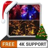 無料のスカイダイブ花火HD-HDR 4K TV、8K TVの美しい景色で部屋を飾り、壁紙としてのクリスマスデバイス、クリスマス休暇の装飾、イベントお祝いのテーマ