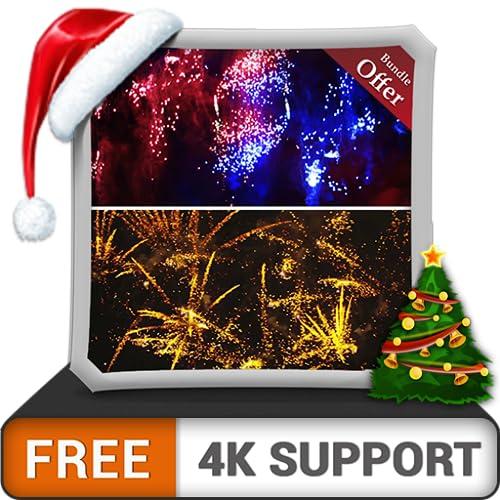 fogos de artifício skydive grátis HD - decore seu quarto com belas paisagens em sua TV HDR 4K, TV 8K e dispositivos de fogo como papel de parede, decoração para festas de Natal, tema para celebração d