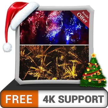 FREE Skydive Fireworks HD - Decorate your room with beautiful scenery on your HDR 4K TV 8K TV and Fire Devices as a wallpaper Decoration for Christmas Holidays Theme for Events Celebration